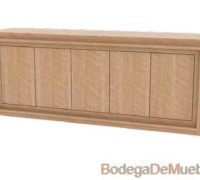 Bufetera de Madera minimalista disponible en nogal, camel, capuchino, tabaco, cerezo, wengue y cherry.