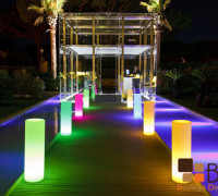 Torre decorativa con led
