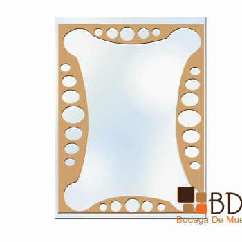 Espejo Decorativo con Burbujas Mirror Shield