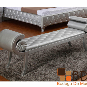 Banca Elegante en Color Plata Furniture