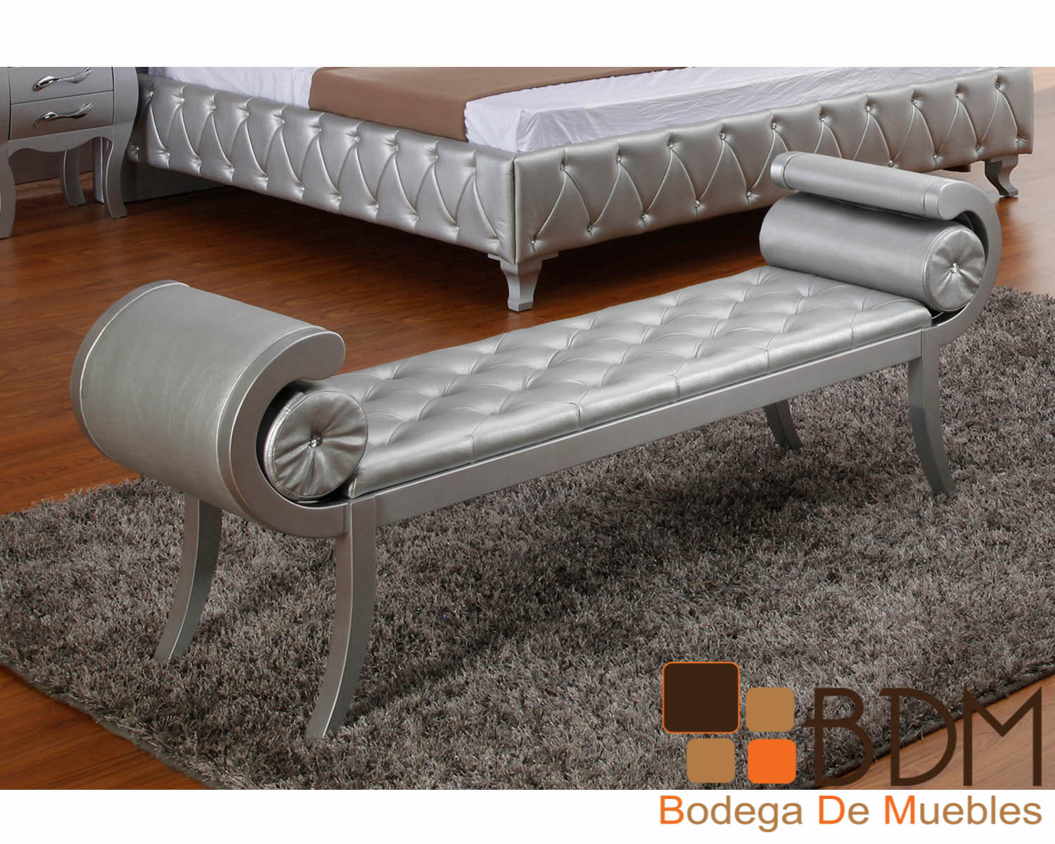 Banca Elegante en Color Plata Furniture - Bodega de Muebles ...