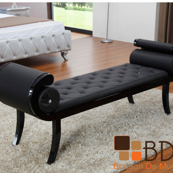 Banca Vanguardista en Color Negro Furniture
