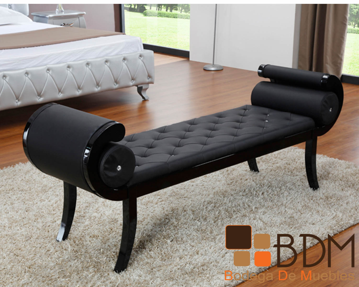 Banca Vanguardista en Color Negro Furniture - Bodega de Muebles ...
