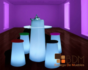 Set de Bar con luz Led