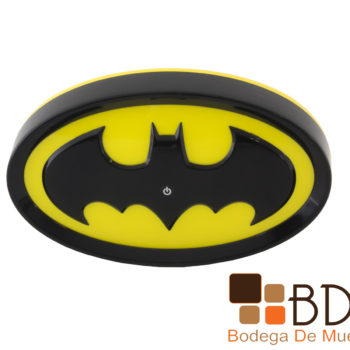 Lampara infantil con luz led Escudo Batman