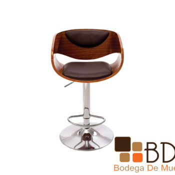Banco elegante alto ajustable base acero