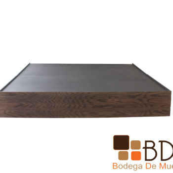 Base King Size de madera mdf color nogal