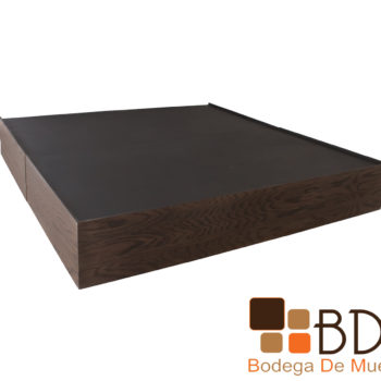 Base matrimonial de madera mdf color nogal
