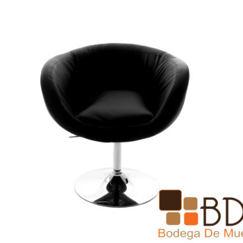 Sillon ajustable tapizado en vinipiel color negro con piston