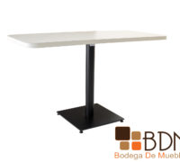 Mesa para restaurante rectangular base de acero