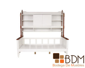 Base Cama Infantil Estilo Vintage Color Blanco