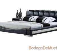 Hermosa Base para Cama en color blanco y negro con un estilo moderno y elegante diseñada para personas innovadoras