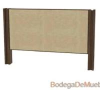 Hermosa Cabecera para Cama king size de respaldo alto fabricada con madera de fresno y tela.