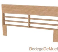 Cabecera para Cama king size baja de madera de fresno muy básica para gustos clásicos.