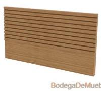 Cabecera para Cama king size baja con lineas horizontales en relieve.
