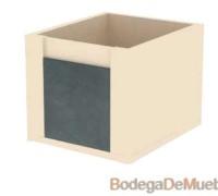 Hermoso Cajon Juguetero de Madera con diseño de caja fuerte para hacer volar la imaginación de tus niños.