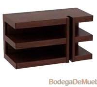 Mueble Centro de Entretenimiento de Madera, minimalista en color tabaco