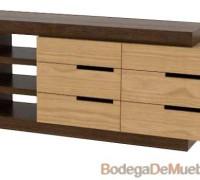 Comoda de Madera contemporánea muy atractiva por su diseño, funcionalidad y contraste de colores.