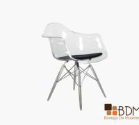 silla de acrílico