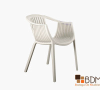 silla para exterior - silla tejida - silla blanca