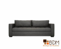 sofa gris - sofa largo - elegante