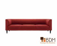 sofa rojo, elegante, amplio, minimalista