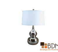 lámpara de mesa cromada