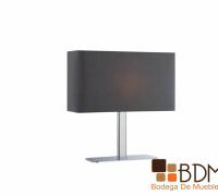 lámpara minimalista gris