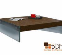 mesa de centro de encino