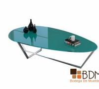 mesa de centro ovalada