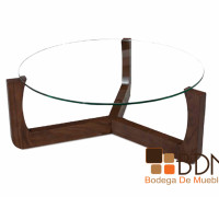mesa de nogal circular