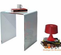 mesa lateral de cristal