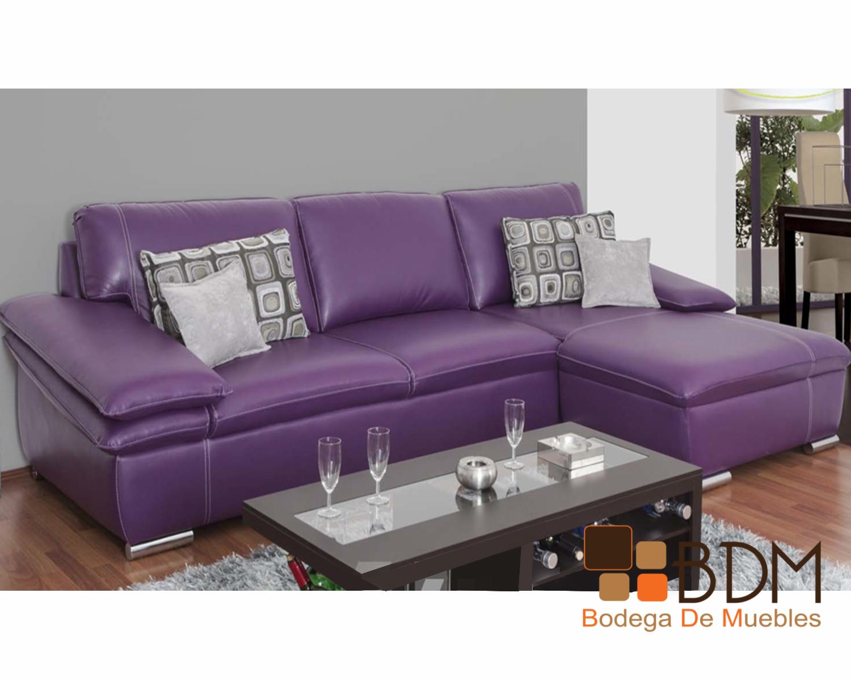 Sala En Escuadra Color Morado Bodega De Muebles Muebler A Online # Muebles Vanguardia