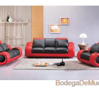 sala color negro y rojo moderna