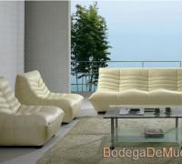 sala moderna y fresca de piel color beige