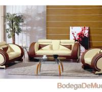 sala unica e innovadora de piel color beige