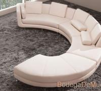 sillon moderno circular de piel
