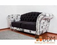 Sofá moderno capitoneado
