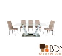 Mesa para Comedor de Cristal Ada