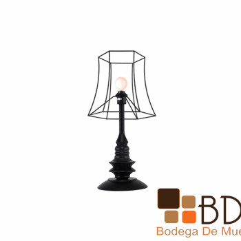 Lámpara de mesa estilo retro Durha