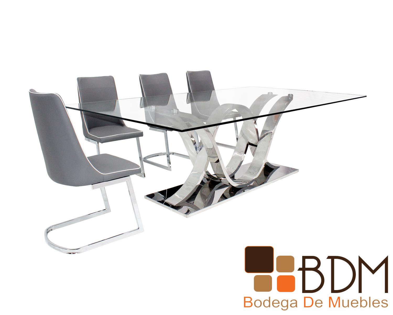 Mesa Comedor con Base de Acero Inoxidable Adele - Bodega de ...