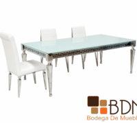 Mesa comedor elegante inoxidable
