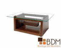 Mesa de centro de madera y cristal