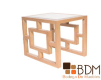 Mesa lateral de madera para sala
