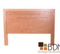 Cabecera moderna minimalista de madera