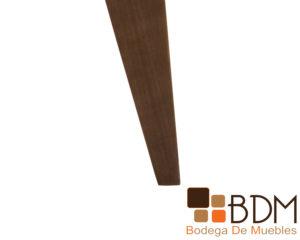 Banca moderna de madera poplar tapizada