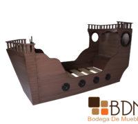 Cama rustica infantil barco pirata