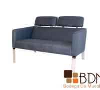 Love seat moderno con estructura en metal