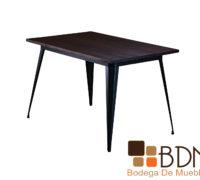 Mesa de comedor con estructura metalica