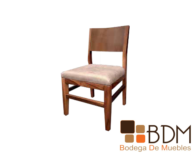 Silla moderna de madera para comedor tapizada - Bodega de muebles